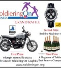 oldiering On, SOTLT, Soldiering On Awards, 8 Voices, Park Plaza, 18 April 2015, raffle prizes