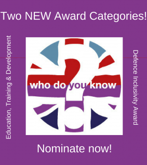 new award categories | soldiering on awards
