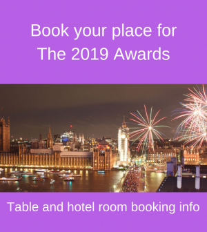 Book your place for The 2019 Awards