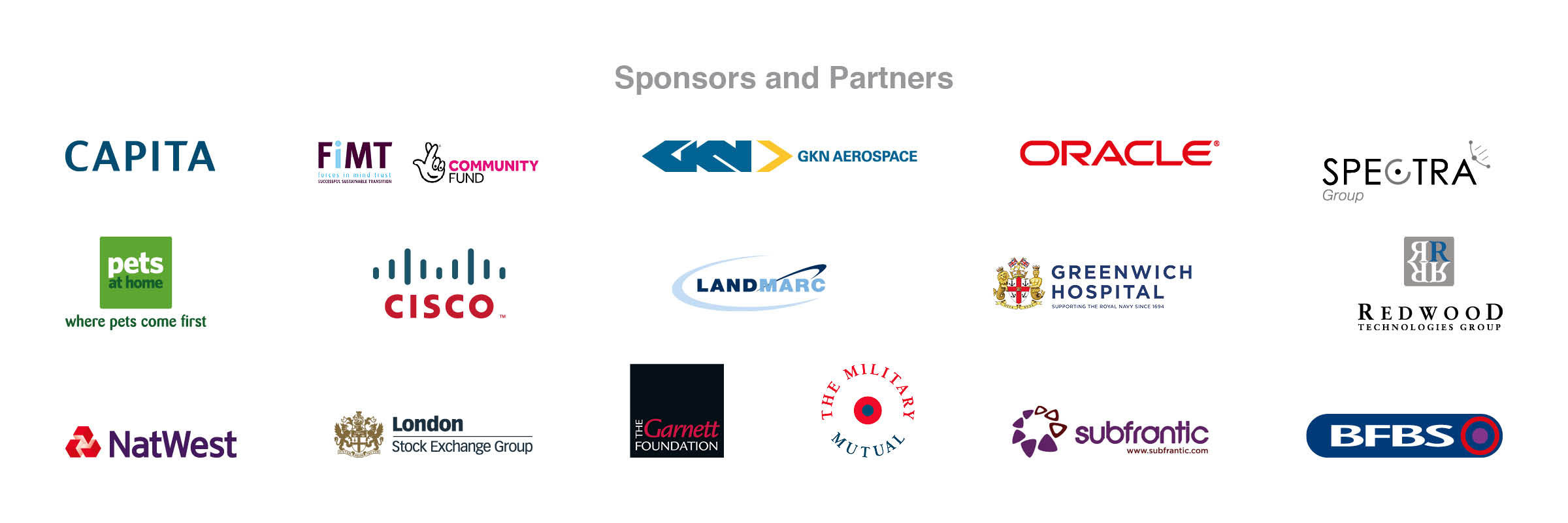 Soldiering On Awards sponsors and supporters