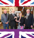 Duff family receives the 'Soldiering On' Award on behalf of the late Hector Duff