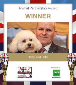 barry and bella soa soldiering on awards 2021 animal partnership